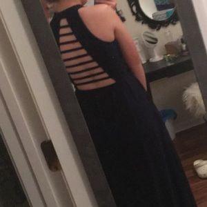 Speechless Navy Blue prom dress